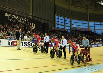 The UCI World Cup at the Sir Chris Hoy Velodrome in Glasgow