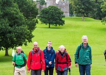 Ramblers in Balloch Castle Country Park
