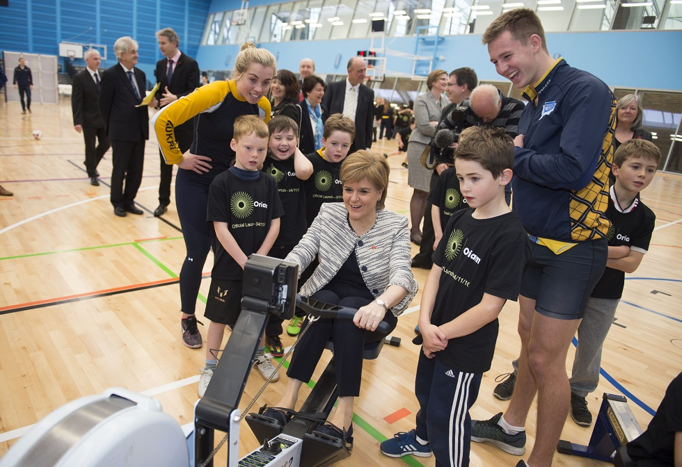 Nicola Sturgeon at the opening of Oriam