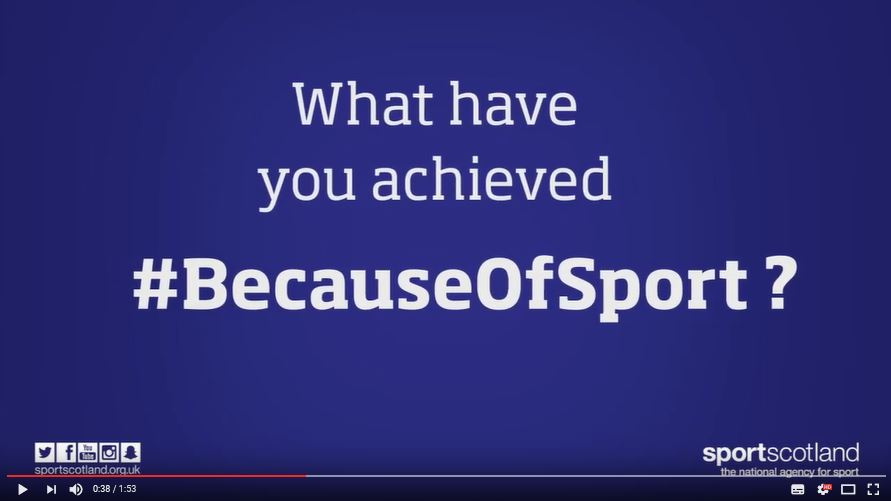 What have you achieved #BecauseOfSport ?