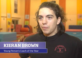 Kieran Brown, the sportscotland Young Person's Coach of the Year 2016