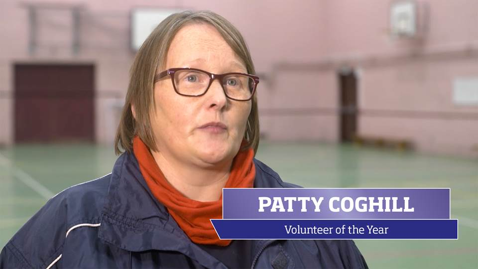 Patty Coghill, the 2016 sportscotland Volunteer of the Year