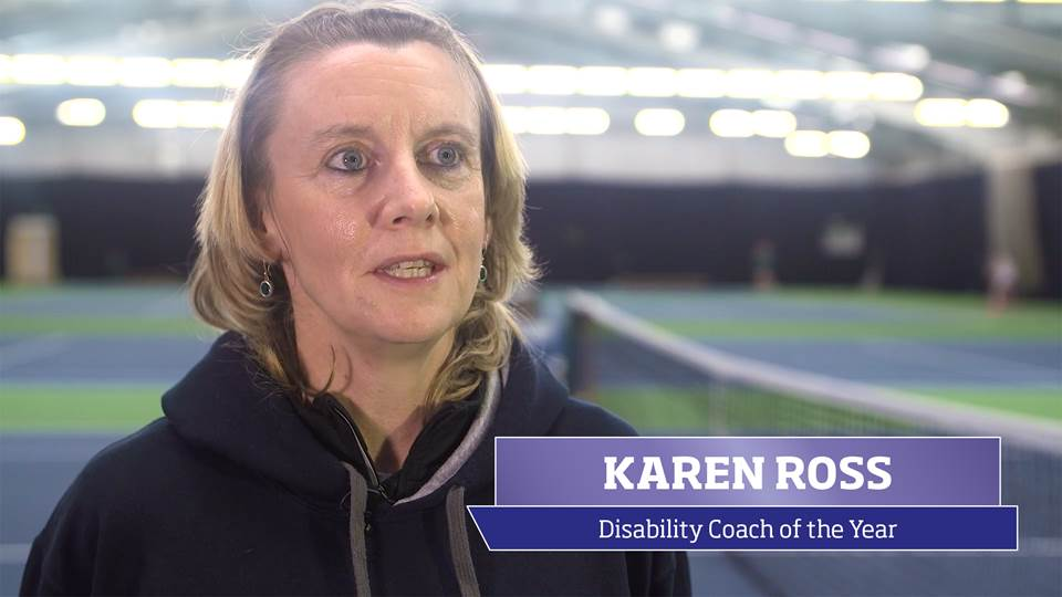 Karen Ross, the 2016 sportscotland Disability Coach of the Year