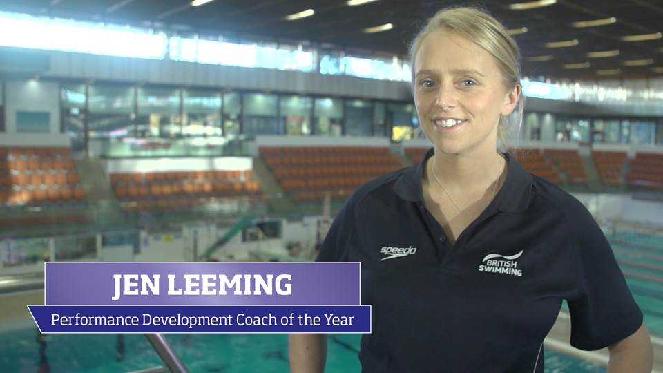 Jen Leeming, recipient of 2016 sportscotland Performance Development Coach of the Year