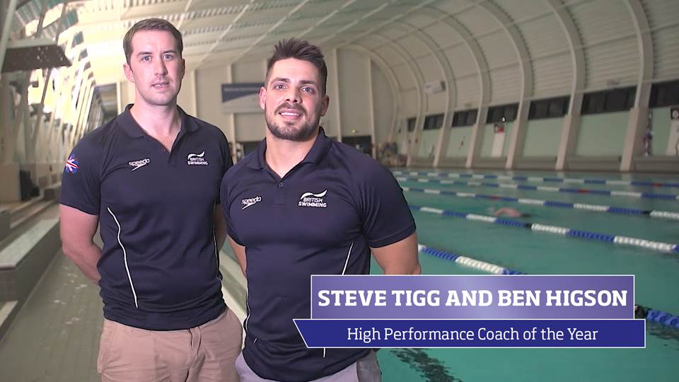 Steve Tigg and Ben Higson, the 2016 sportscotland High Performance Coaches of the Year
