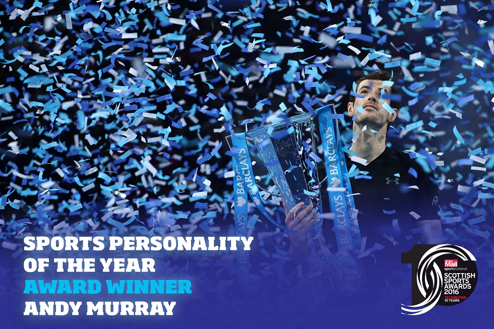 Andy Murray is the 2016 sportscotland Sports Personality of the Year