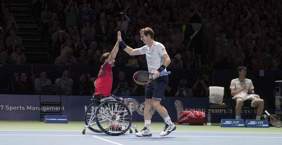 Gordon Reid Andy Murray and Jamie Murray