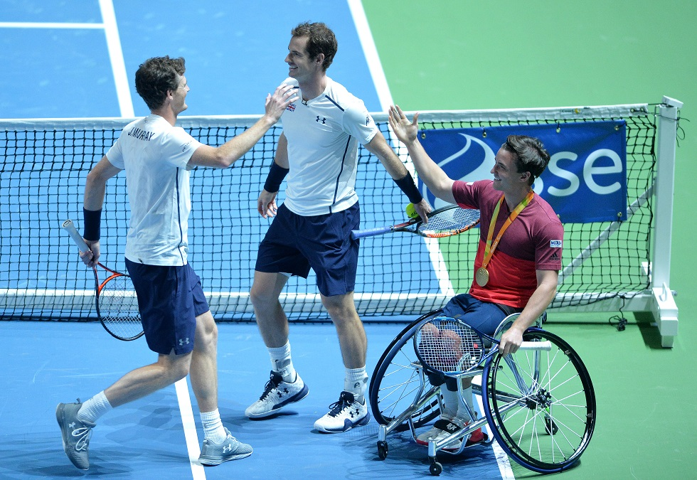 Andy Murray Jamie Murray and Gordon Reid