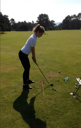 Hannah at Ladybank Golf Club