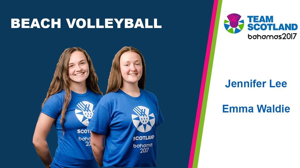 Team Scotland 2017 beach volleyball