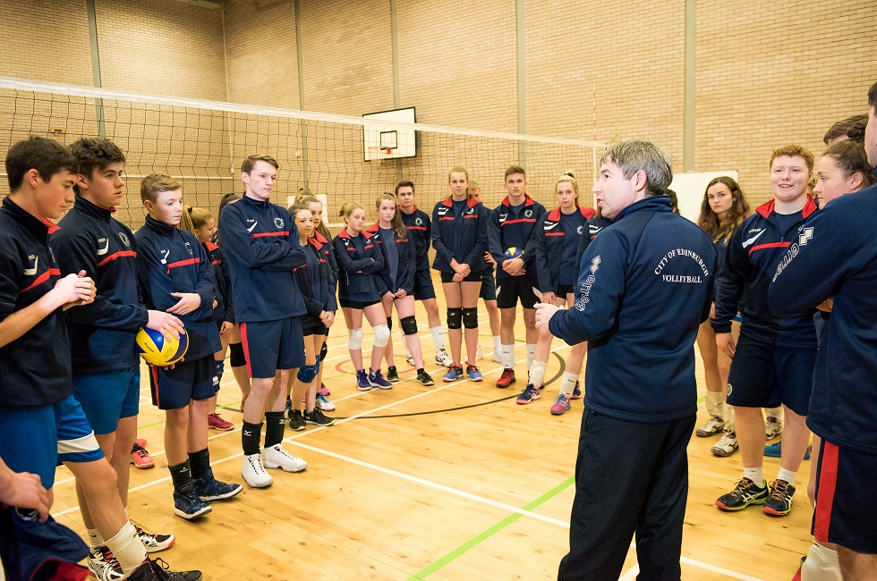 Ian Brownlie takes coaching session at the City of Edinburgh Volleyball Club