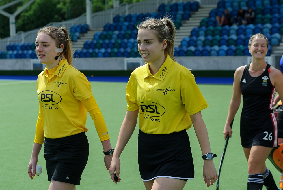 Carly Edward has become an international hockey umpire