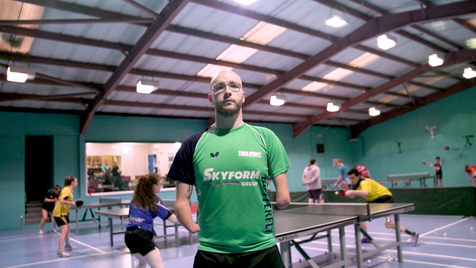 Martin Perry at Drumchapel Table Tennis Club