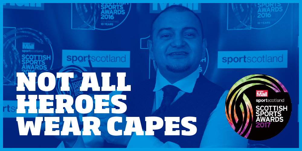 Not all heroes wear capes: Local Hero Ammar Ashraf at the 2016 Scottish Sports Awards