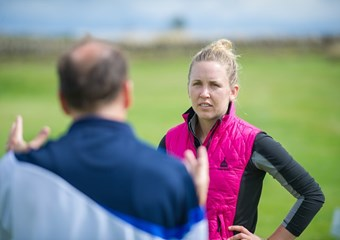 Sally Watson and Dr Malcolm Fairweather of the sportscotland institute of sport