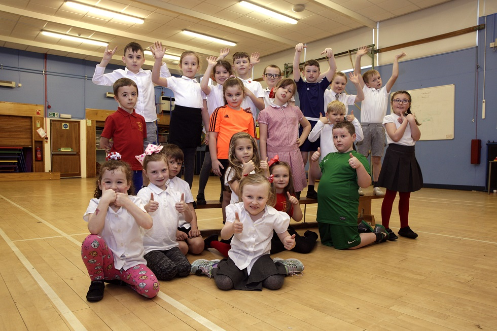 Pupils give the thumbs up