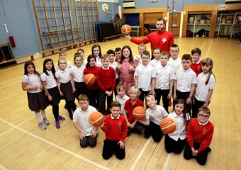 Pupils enjoy basketball sessions