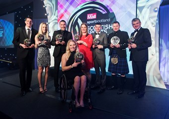 Winners in the 2017 Sunday Mail sportscotland Scottish Sports Awards