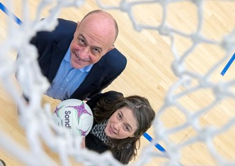 sportscotland Chief Executive Stewart Harris and Sports Minister Aileen Campbell