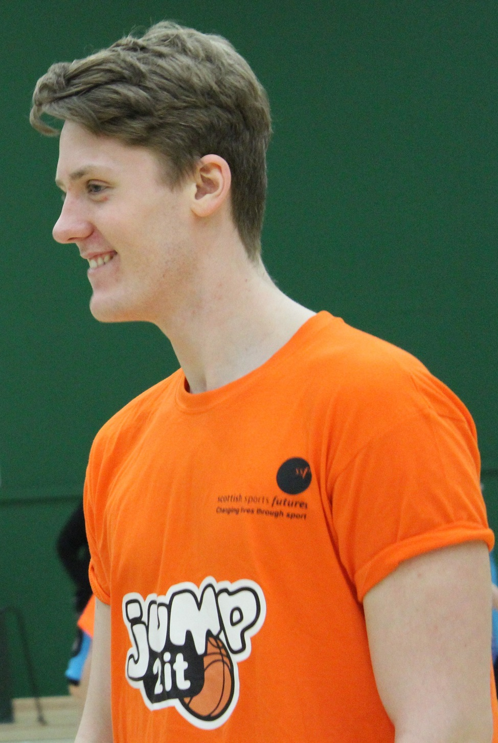 Craig McIntyre from Jump2it Basketball programme in North Ayrshire