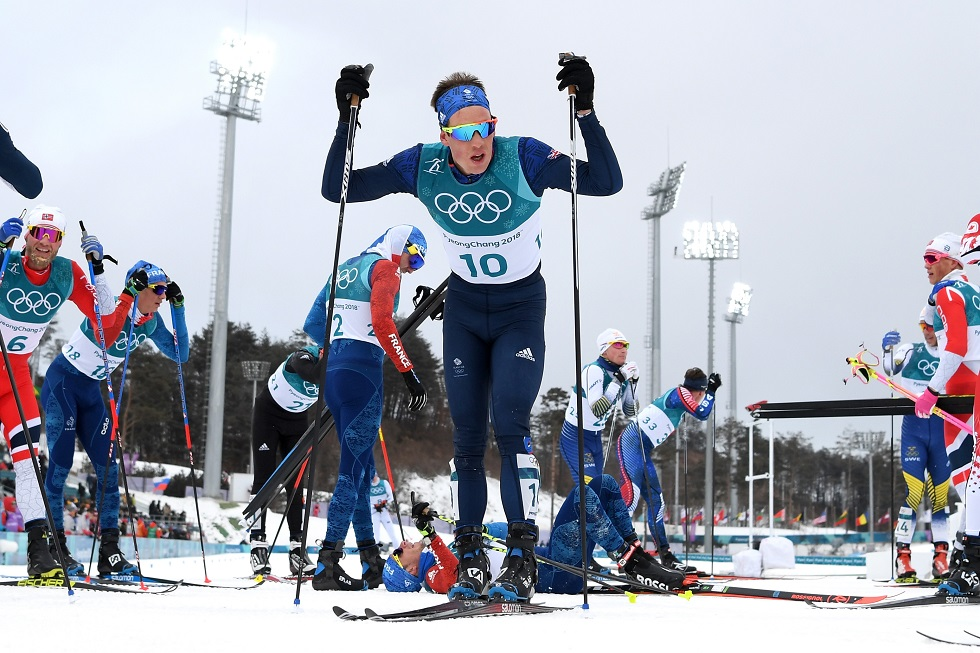 Andrew Musgrave competing for Team GB at the 2018 Winter Olympics #ScotsOnTeamGB