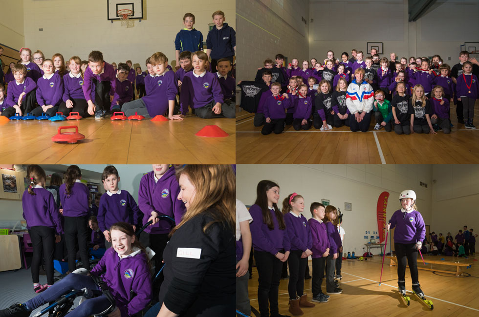 Aviemore Primary School celebrates the 2018 Winter Olympics