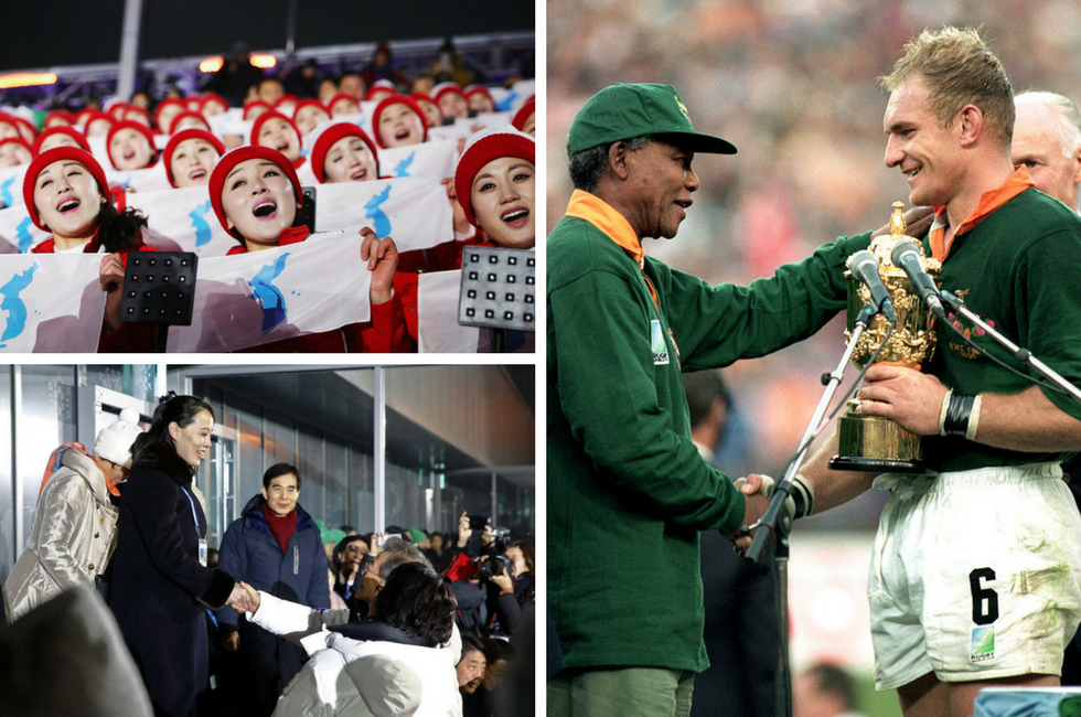 The 2018 Winter Olympics opening ceremony showed the power of sport to unite, as did South Africa's victory in the 1995 Rugby World Cup