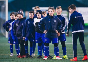 Gartcairn's youngsters enjoying training