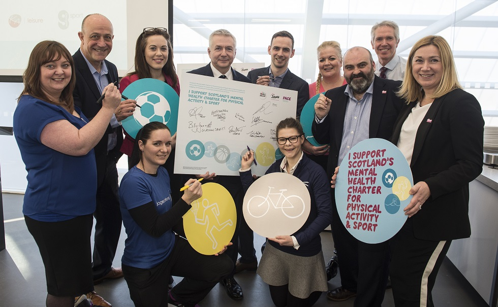 The first signatories of Scotland's Mental Health Charter for Physical Activity and Sport