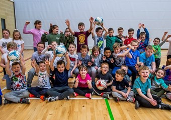 Children at Clyde Valley Campus Community Sports Hub