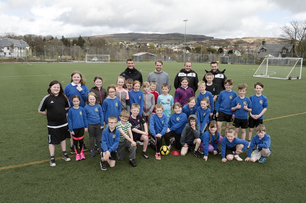 Portree pupils with the coaches