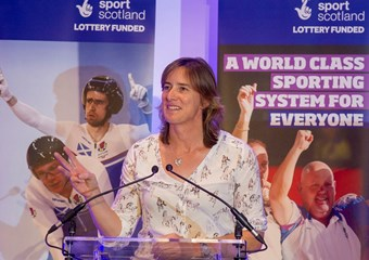 Katherine Grainger speaks at the High Performance Conference
