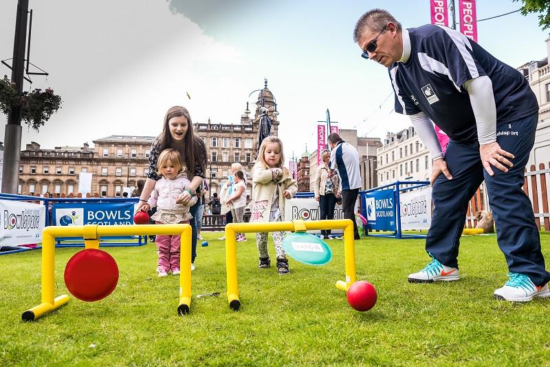A TryBowls initative at George Square in Glasgow