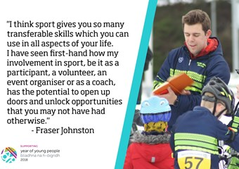 Fraser Johnston, founder of Falkirk Junior Bike Club