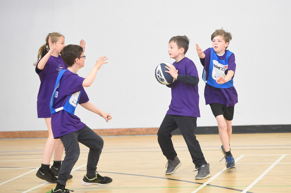 Driving Success - Students Play Basketball in Active Schools Sport Session