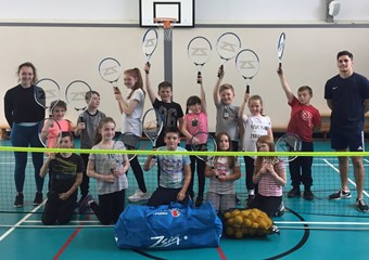 Blairhall Primary School pupils participate in tennis