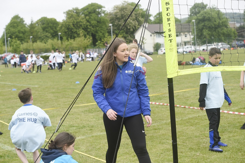 Emma Waldie volunteering at Games @ The Hub