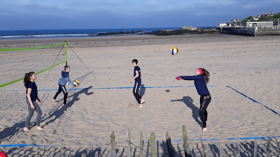 Scotland beach volleyball training in St Andrews