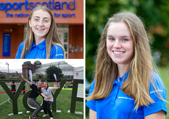 Holly Halferty and Sara Johnston volunteered at Glasgow 2018