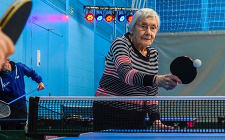 Joan James from Haddington Table Tennis Club