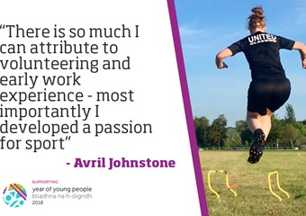 Footballer Avril Johnstone