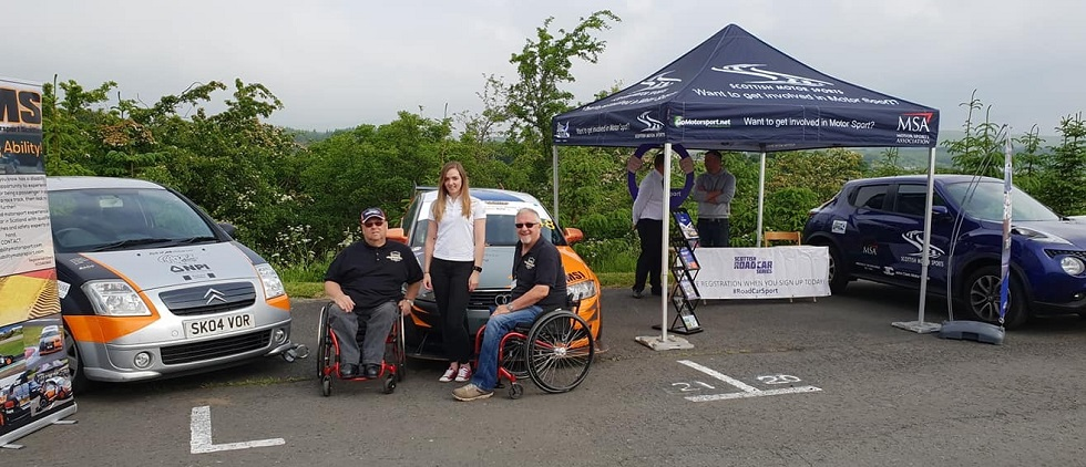 Disability Motor Sport at East Ayrshire Car Show