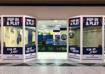 Table Tennis pop up store in South Gyle Centre in Edinburgh