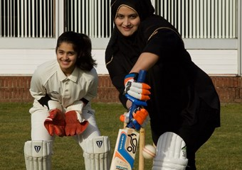 Moon and Nayma Shaikh at East Kilbride Cricket Club