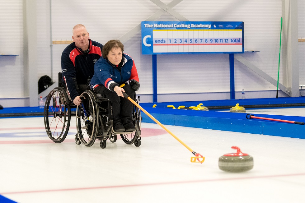 Curlers Gary Logan and Aileen Neilson