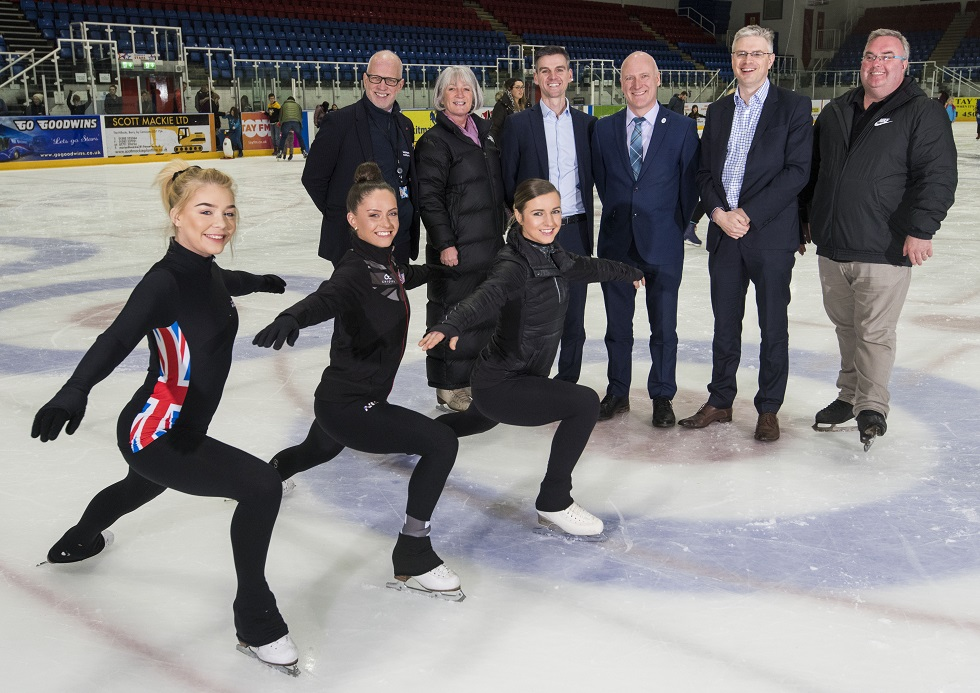 Sports Minister at Dundee Ice Arena