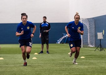Scotland women's national team training at Oriam