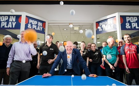 Minister for Sport Joe FitzPatrick at Pop In & Play