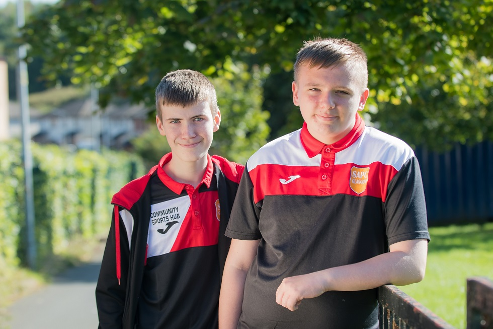 Kieran Smith and Andrew Buik volunteer and coach at SAPC Darnley