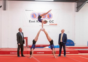 Scottish Gymnastics CEO Doc McKelvey and Sport Minister Joe FitzPatrick